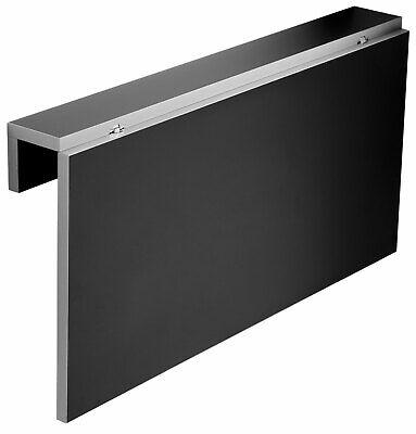 Mesa cocina negra Vera apertura abatible pared suspendida contemporaneo 80x10-50