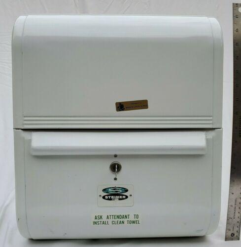 Vintage Steiner Streamliner Gas Service Station Rolling Hand Towel Cabinet & Key