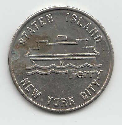 Staten Island Ferry transit token New York City NYC - NY632C