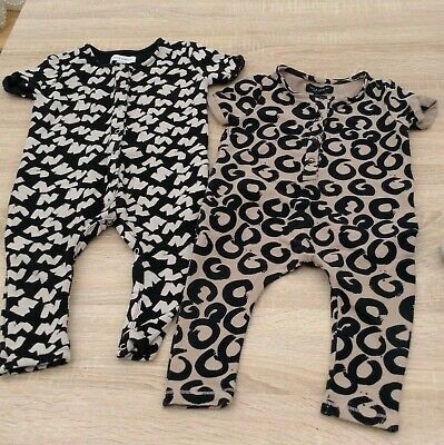 2 x jax & hedley playsuits, rompers age 6-12 months