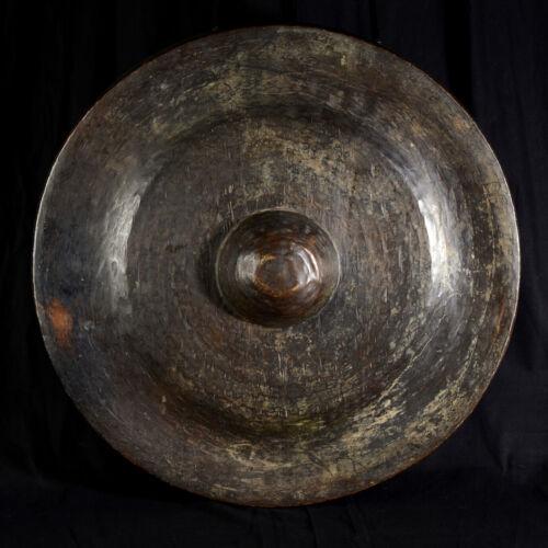 Large Gong Bronze Burmese Xixè Century Temple Burma