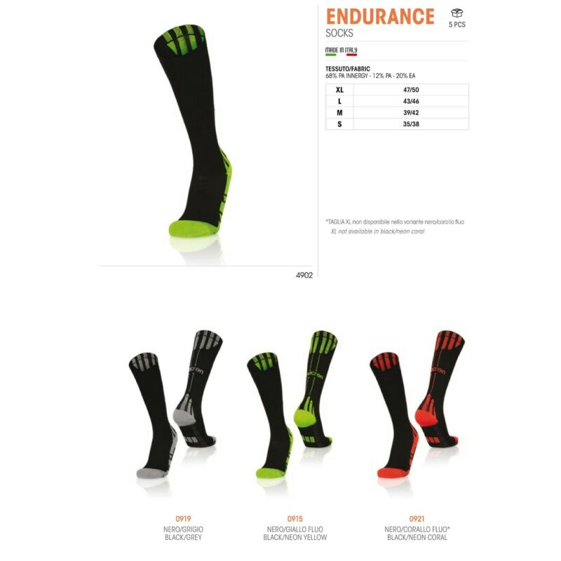 5 PAIRS OF SOCKS RUNNING ATHLETICS ENDURANCE - MACRON - Size from 35 to 50