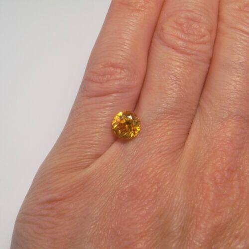 Yellow Sphalerite Rare Round Cut Natural Neon Yellow Sphalerite Collectors Gems