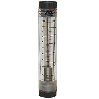Prm 5-40 Gpm Rotameter Viton Seals 1 Fnpt Connect Water Flow Meter