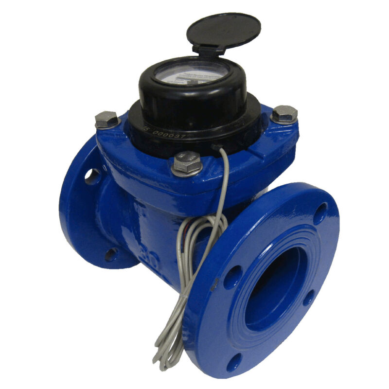 """New PRM 4"""" Woltmann-Helix Style Totalization Water Meter with Pulse"""