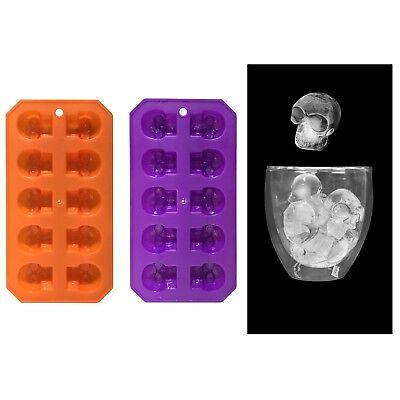 Halloween Ice Cube Molds (Halloween Skull Skeleton Ice Cube Tray Molds Party Decoration Drinks)