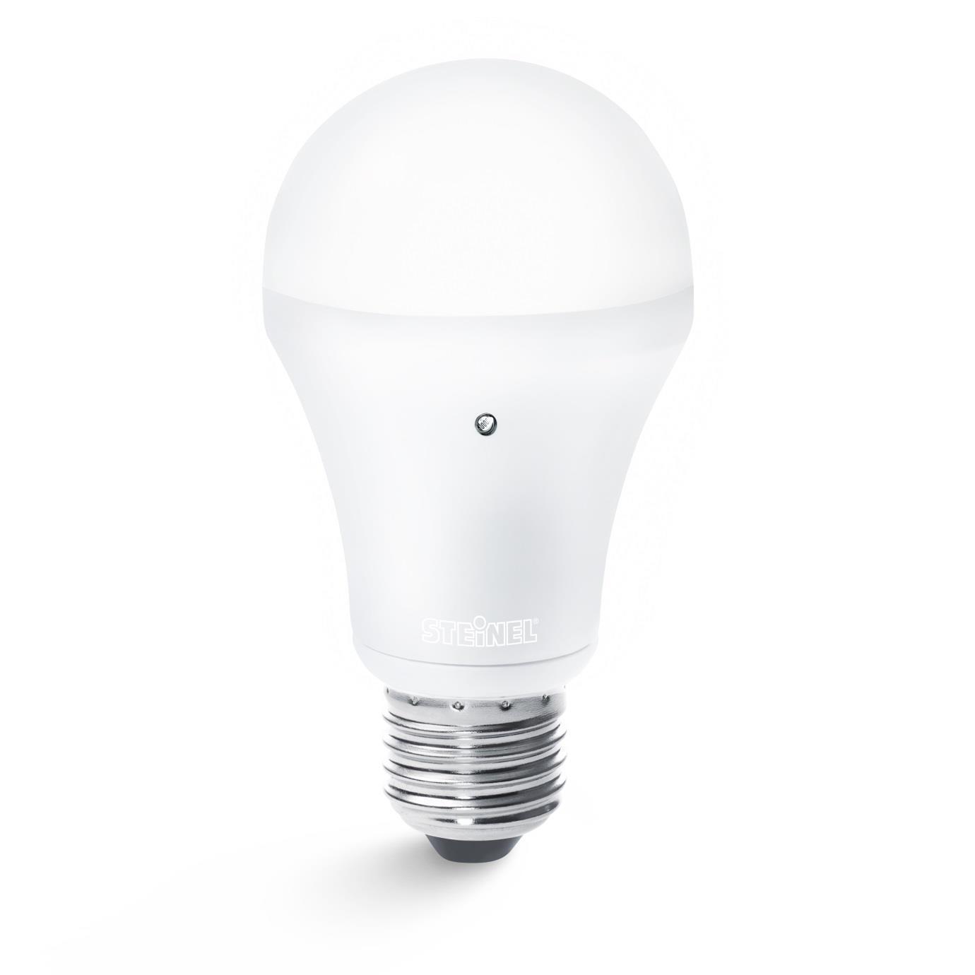 Details zu Steinel Sensor Light LED 8,5W E27 Energiesparlampe mit Dämmerungsschalter Licht