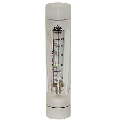 Prm 10-100 Scfm Rotameter Viton Seals 2 Fnpt Connect Airgas Flow Meter