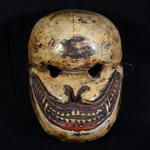 Mask Wooden Polychrome Citipati Nepal Dance Of Cham