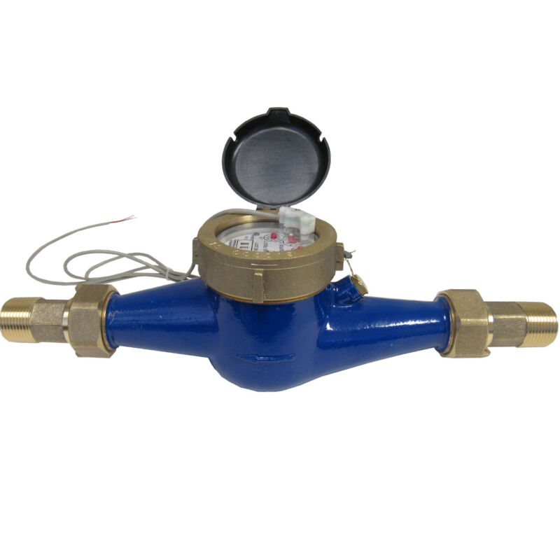 """New PRM 1"""" NPT Multi-Jet Cold Water Meter With Pulse Output"""