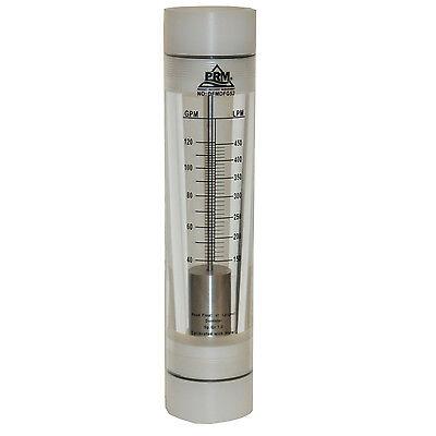 Prm 40-120 Gpm Rotameter Viton Seals 2 Fnpt Connect Water Flow Meter