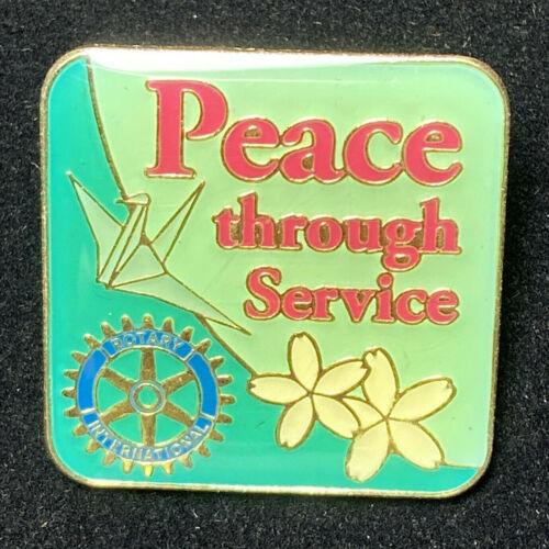 Rotary International Pin PEACE THROUGH SERVICE 2012-13 Theme