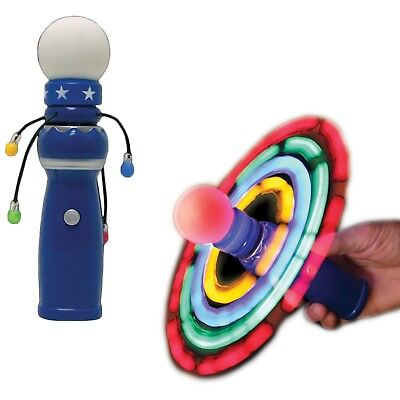 Hand Held LED Light Up Galaxy Spinner Flashing LED Lights Spinning Wand Autism