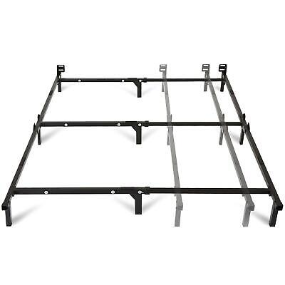 Adjustable Black Steel Bed Frame, Twin Full or Queen Size, Bedroom Furniture Furniture Twin Bed
