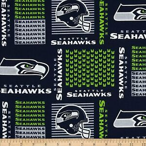 100% Cotton Fabric Seattle Seahawks Fabric 58