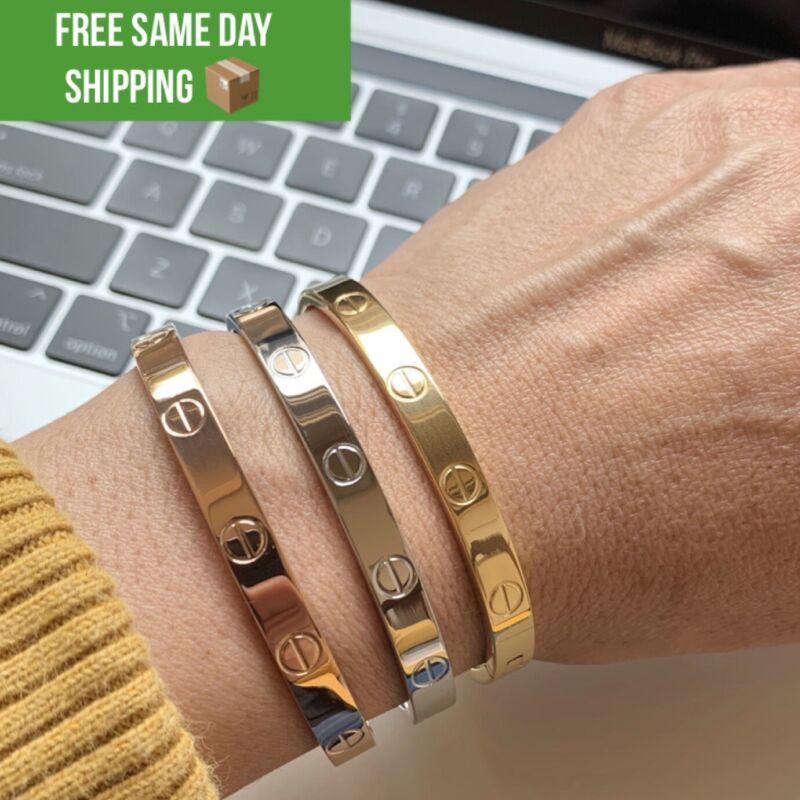 Love Bangle Bracelets, 18K High Quality Stainless Steel Bracelets, Love Bracelet
