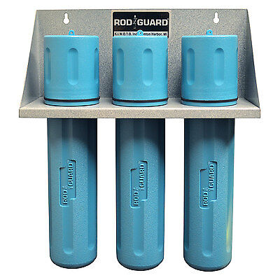 Storage Rack With 3 Ea - 14 Blue Welding Electrode Rod Guard Storage Canister
