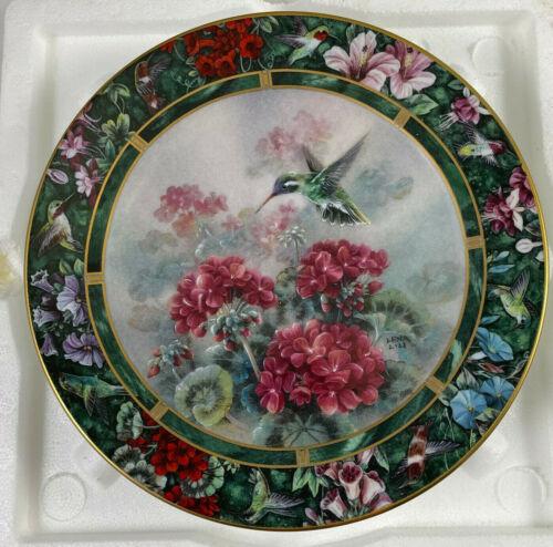Lena Liu Hummingbird Treasury Plate The White-eared Hummingbird w/COA