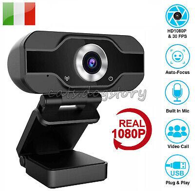 WEBCAM HD 1080P Con Microfono Skype Smartworking PC video camera C9L1