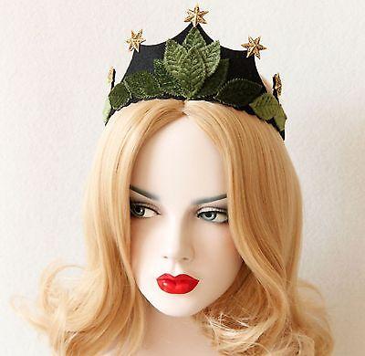Earth Fairy Halloween (Halloween Leaf Elven Fairy Headband Crown Mother Earth Bohemian Queen)