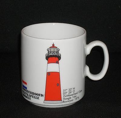 Leuchtturm WESTKAPELLE Holland Kaffeebecher Becher Nordsee Lighthouse Porzellan