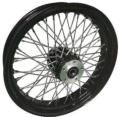 """Black Ultima 60 Spoke Billet 21 x 3.5"""" Front Wheel for Harley Models 2000-Later"""