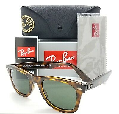 NEW Rayban Wayfarer sunglasses RB4340 710 50mm Gloss Tortoise Grey Green GENUINE