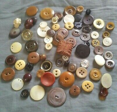 Beautiful large vintage mother of pearl 2 hole buttons for sewing or crafting 78 inch