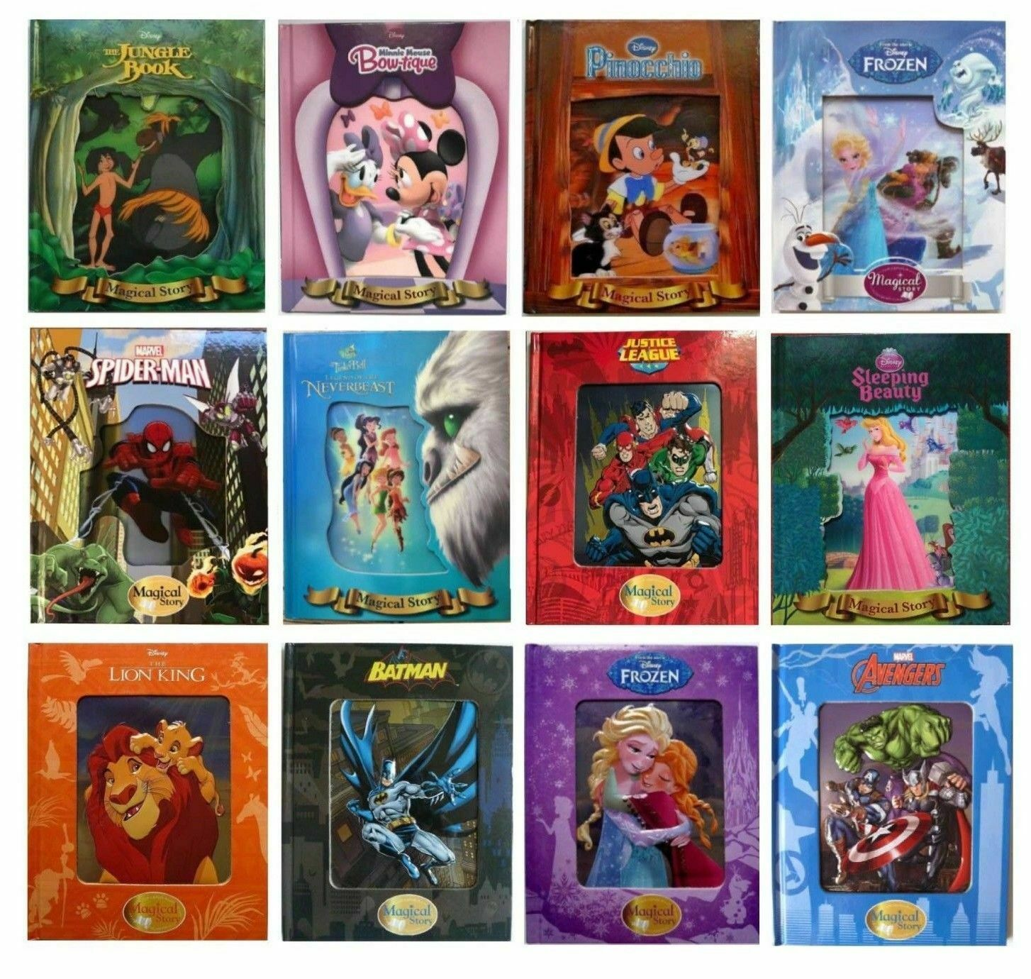 New 3D, Disney Fairy Tales Magical Story Books Lenticular Be