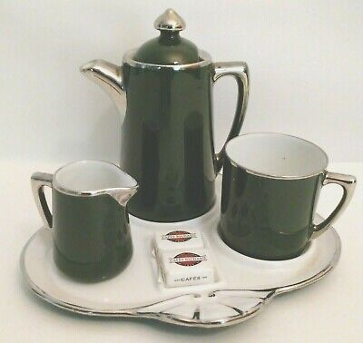 15 Pc Tea Set Tea Pot 6 Cups 6 Saucers Rack Coffee Cup Multi 7 oz Porcelain Wow