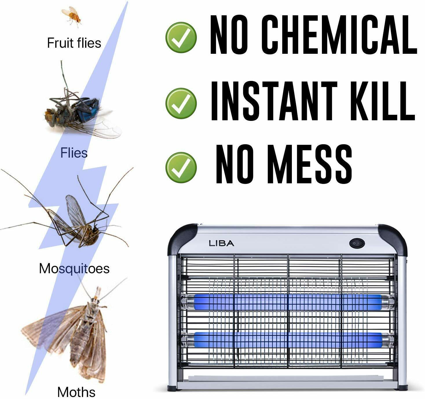 NEW INDOOR BUG ZAPPER ELECTRIC INSECT FLY PEST BUG GNAT AND MOSQUITO TRAP