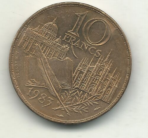 VERY NICE HIGH GRADE BU 1983 FRANCE 10 FRANCS STANDAHL COIN-APR626