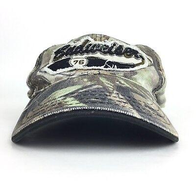 Budweiser 76 Camo Baseball Cap Hat Flex Fit Men's LG Cotton Anheuser Busch Beer