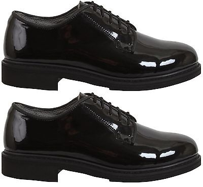 High Gloss Dress Oxford - Oxford dress shoes uniform high gloss black Rothco 5055 various sizes Reg & Wide