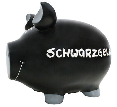 Dinero Negro Hucha XXL Hucha 32cm Motivo Money Monster Banco Cerámica