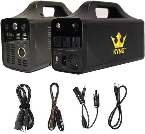 KYNG Power Portable Power Station 500W Solar Generator Lithium Battery 110V/500