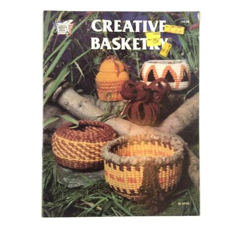 1978 Vintage Magazine Creative Basketry Basket Weaving Book Craft Guide Patterns