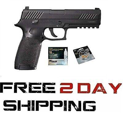 SIG Sauer P320 Air Pistol w/ CO2 12 Gram (15 Pack) & 500 Lead Pellets Bundle