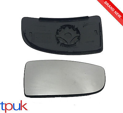 FORD TRANSIT MK8 LOWER DOOR WING MIRROR GLASS 2014 ON DRIVER RIGHT  BACK PLATE
