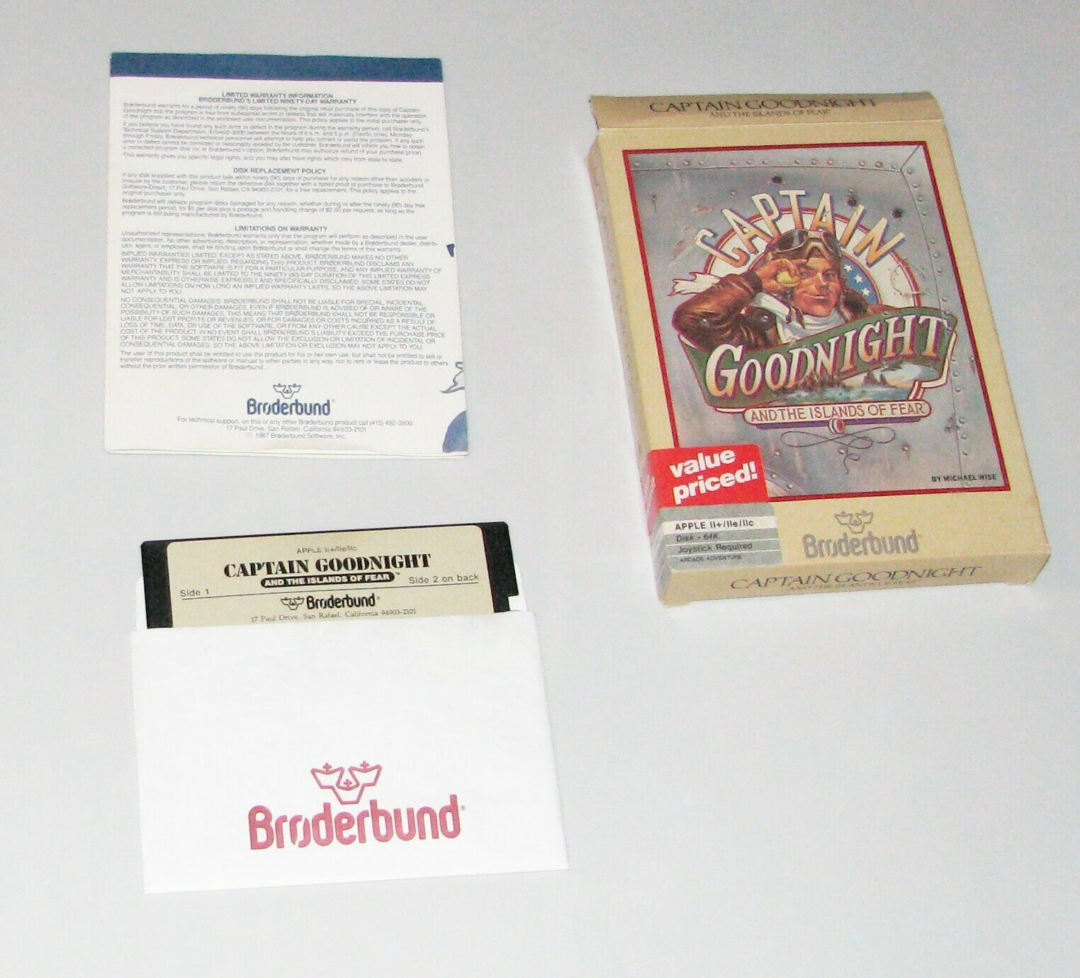 Computer Games - CAPTAIN GOODNIGHT Apple 2 Vintage computer game by Broderbund (USED/ AS IS)