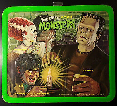 VINTAGE NICE RARE 1979 UNIVERSAL MONSTERS METAL LUNCHBOX NO THERMOS