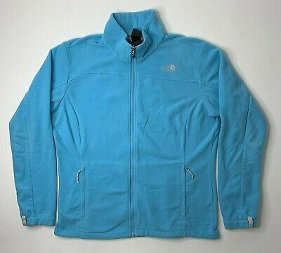 The North Face Womens XL Fleece Jacket Blue Full Zip Long Sleeve