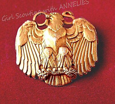 Large Golden Eaglet 10K GOLD Pin Girl Scout Highest Award, 1920s Excellent GIFT