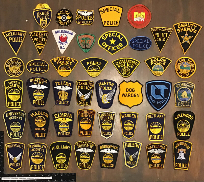 Lot Of 44 Vintage Ohio Police Patches OH