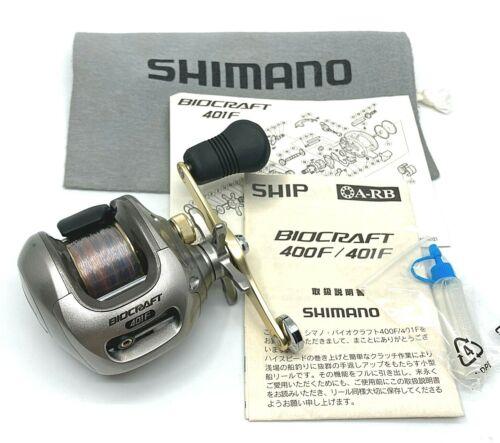 Shimano BIOCRAFT 401F Left Handed Bait Casting Reel <Near Mint> From JAPAN【DHL】