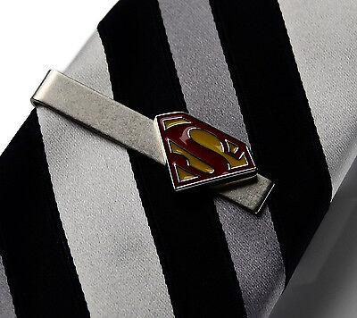 Superman Tie Clip - Tie Bar - Tie Clasp - Business Gift - Handmade - Gift Box