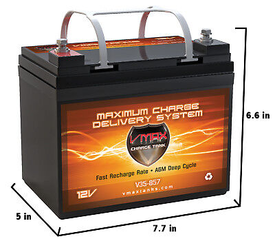 Security Alarm Battery Backup (VMAX MB857 AGM ALARM SECURITY BACKUP 12V DEEP CYCLE HI RESERVE 35AH U1 Battery )