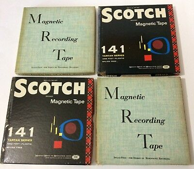 (4) Magnetic Reel to Reel Used Vintage Orchestra Recorded Tapes