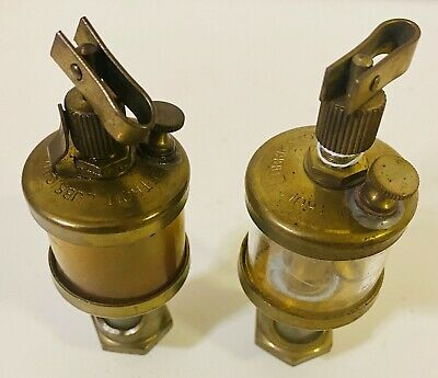 Detroit Match Pair No.201 Brass Drip Oilers Gas Steam Engine Sm Engines Nice