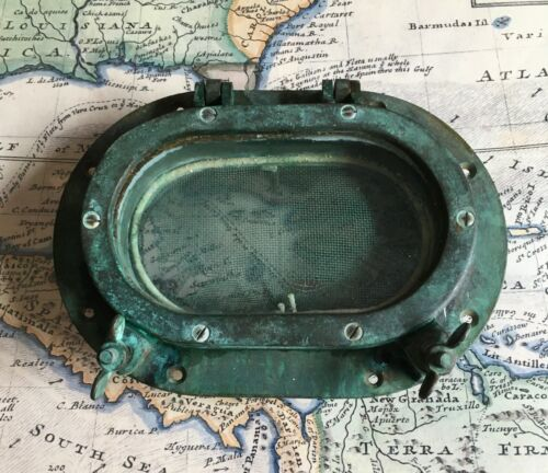Porthole Solid Bronze antique authentic sailboat hardware Great decoration!